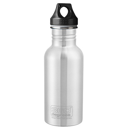360 Degrees Stainless Steel Water Bottle - 550ml Silver