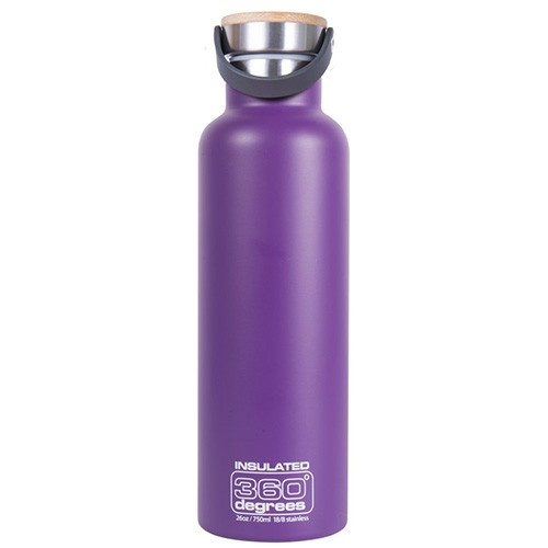 360 Degrees Insulated Stainless Steel Water Bottle - 750ml Purple