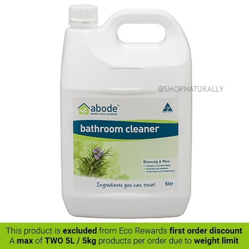 Abode Natural Bathroom Cleaner Spray - 5L Rosemary and Mint