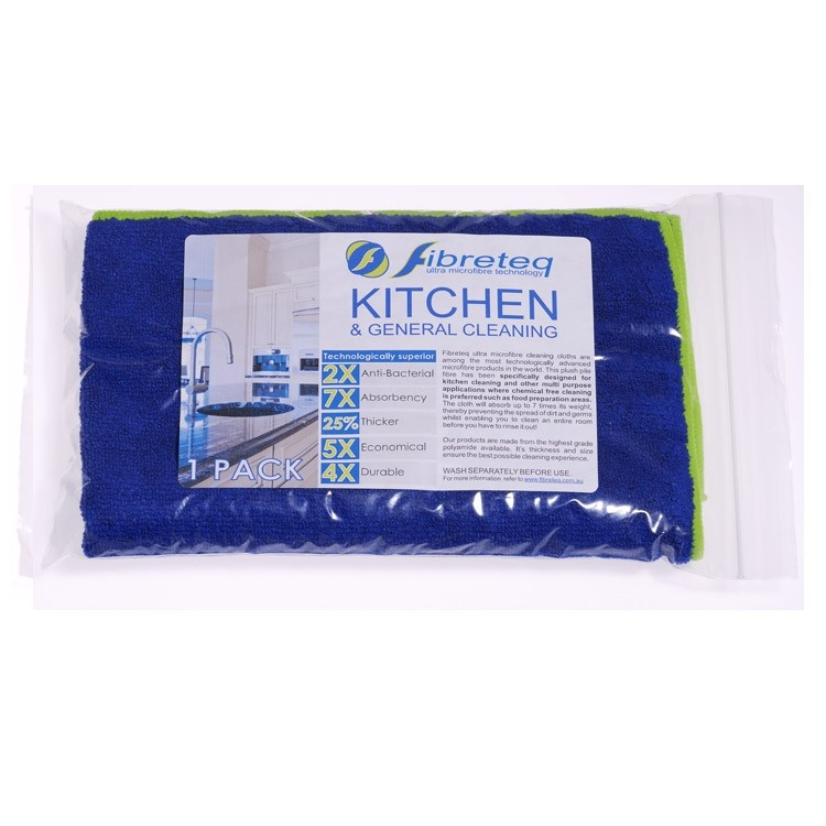 Abode Fibreteq Kitchen & General Purpose Microfibre Cleaning Cloth