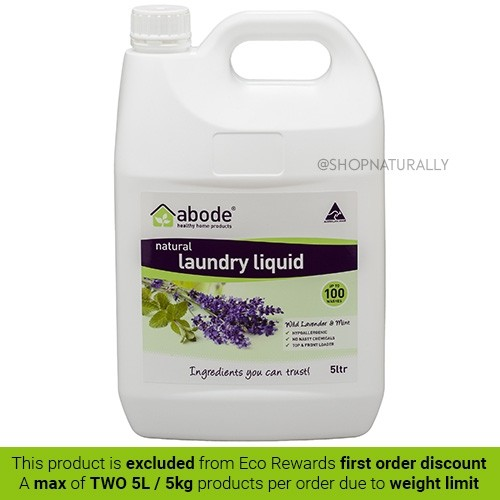 Abode Natural Laundry Liquid - 5L Lavender & Mint