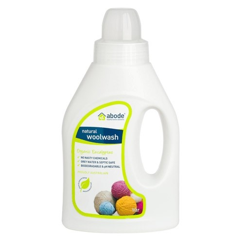 Abode Natural Laundry Liquid - 1L Wool Wash Eucalyptus