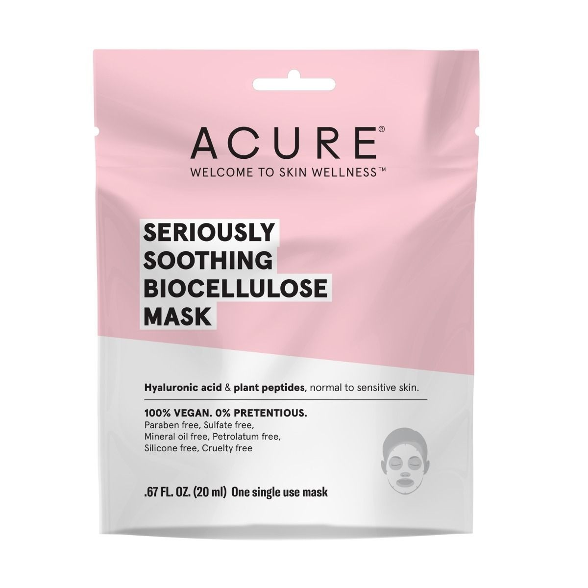 Acure Seriously Soothing Biocellulose Mask - 20ml