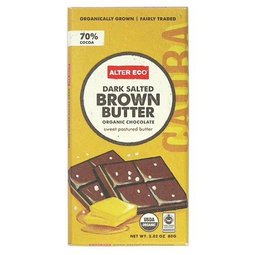 Alter Eco Dark Salted Brown Butter Organic Chocolate 80g
