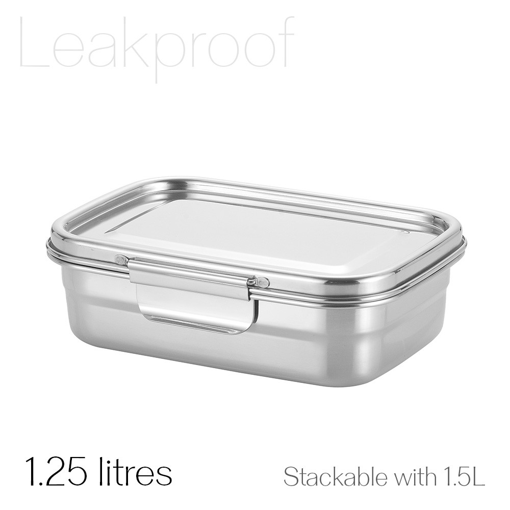 Avanti Dry Cell Stainless Steel Leakproof Food Container - 1.25 LItres