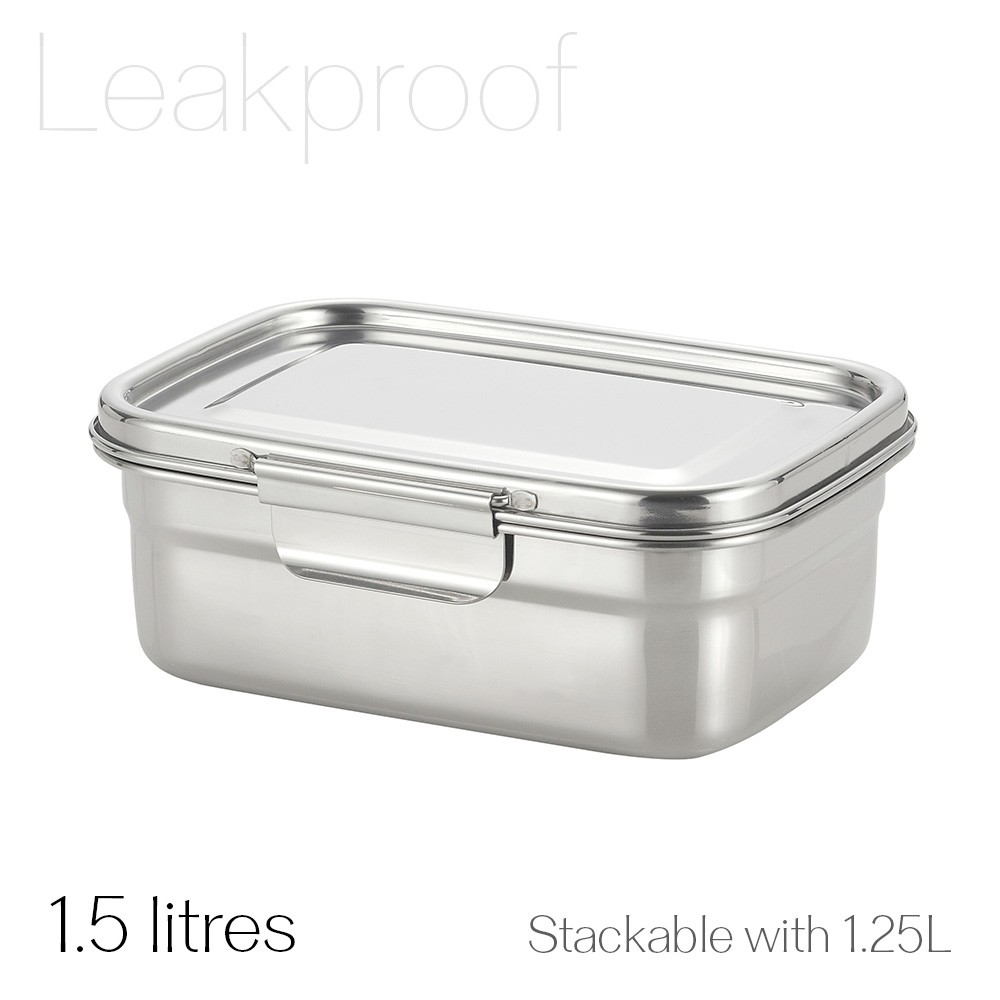 Avanti Dry Cell Stainless Steel Leakproof Food Container - 1.5 LItres
