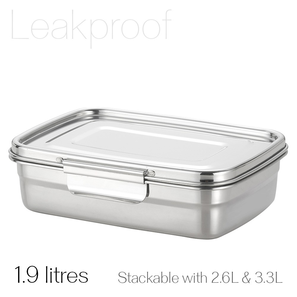 Avanti Dry Cell Stainless Steel Leakproof Food Container - 1.9 LItres