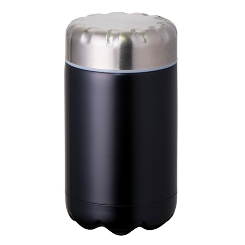 Avanti Stainless Steel Insulated Food Flask with Stainless Inner Lid - 500ml Matte Black