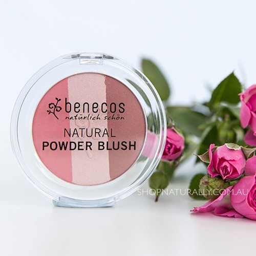 Benecos Natural 3in1 Blush Bronzer Highlighter Powder Trio - 5.5g