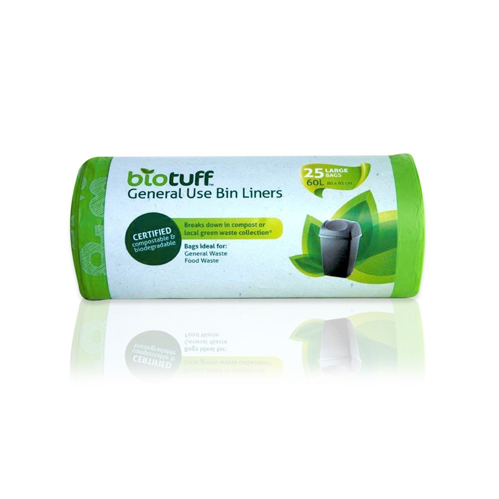 BioTuff Compostable Garbage Bags 60 litres