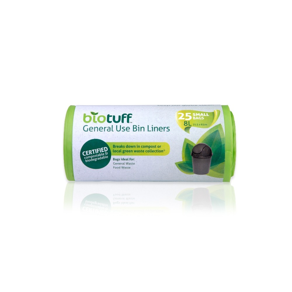 BioTuff Compostable Garbage Bags 8 litres
