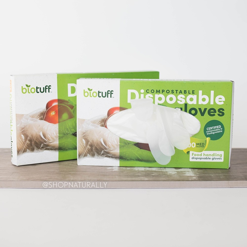 Biotuff Compostable Gloves Box of 200