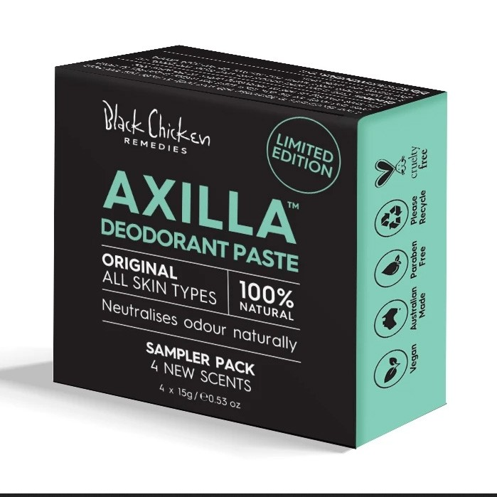 Black Chicken Axilla Deodorant Paste Original Formula Mood Enhancer Sampler Pack