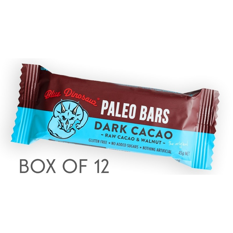 Blue Dinosaur Paleo Bars - 45g Dark Cacao - Box of 12
