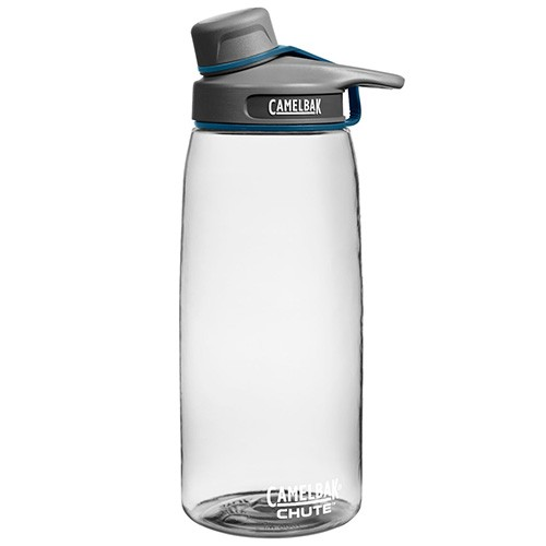Camelbak Chute Water Bottle - BPA Free Tritan Plastic with screw lid - 1 litre Clear