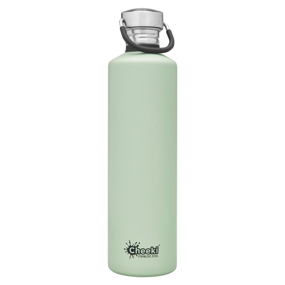 Cheeki Stainless Steel Water Bottle 1 litre - Pistachio