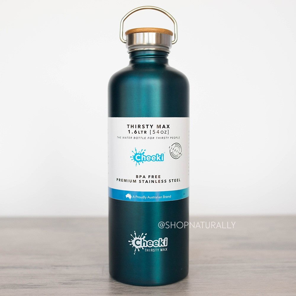 Cheeki 'Thirsty Max' Stainless Steel Water Bottle 1.6 litres - Teal
