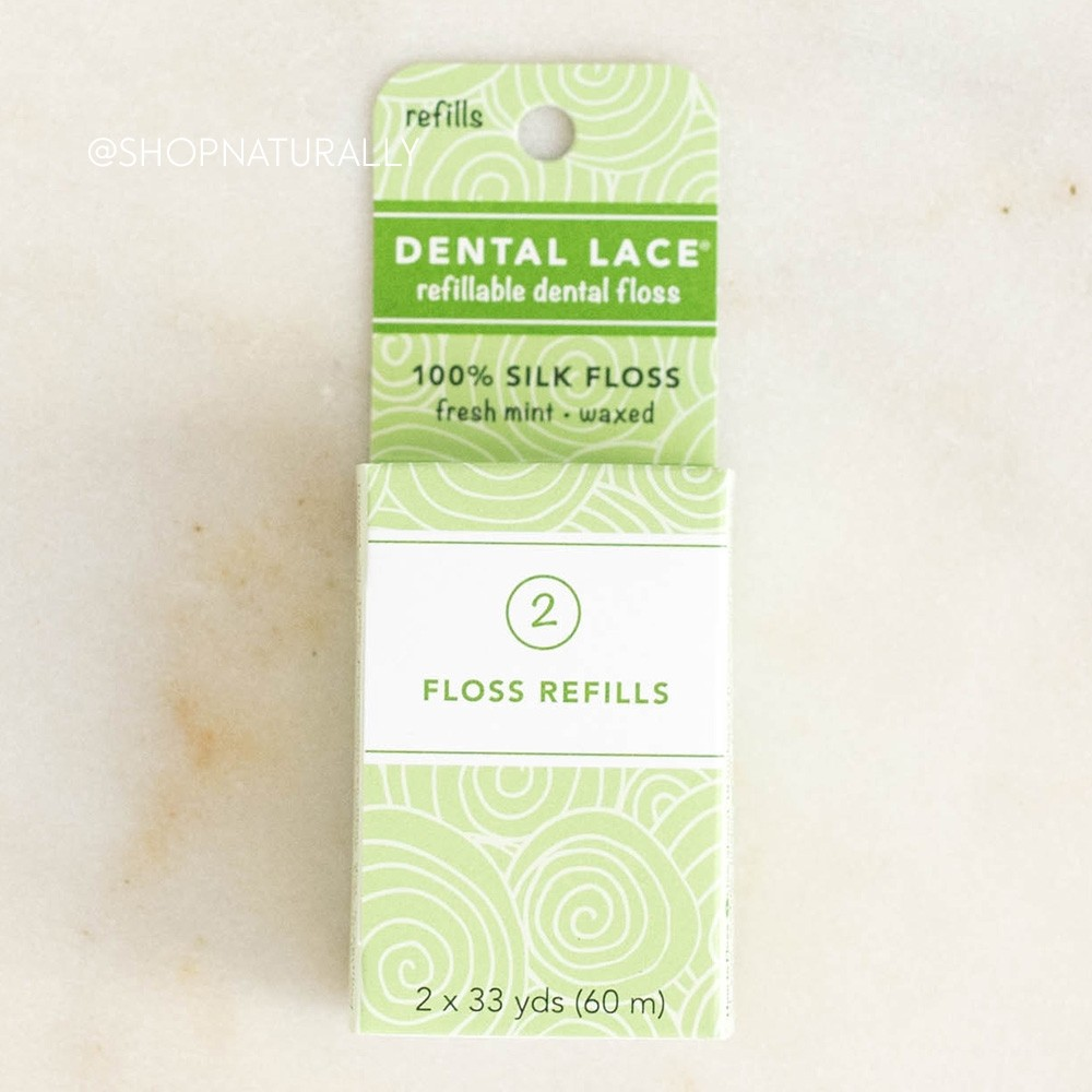 Dental Lace Natural Silk Floss Refill Pack - 60m