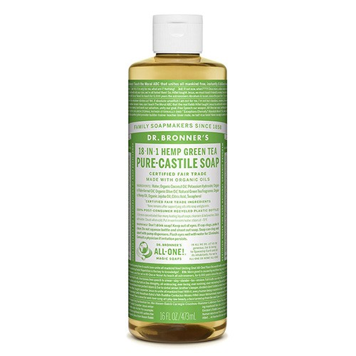 Dr Bronner's 18-in-1 Hemp Pure Castile Soap - 473ml Green Tea