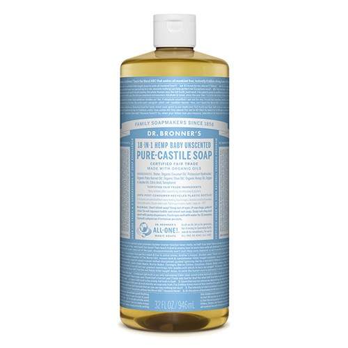 Dr Bronner's 18-in-1 Hemp Pure Castile Soap - 946ml Baby Unscented