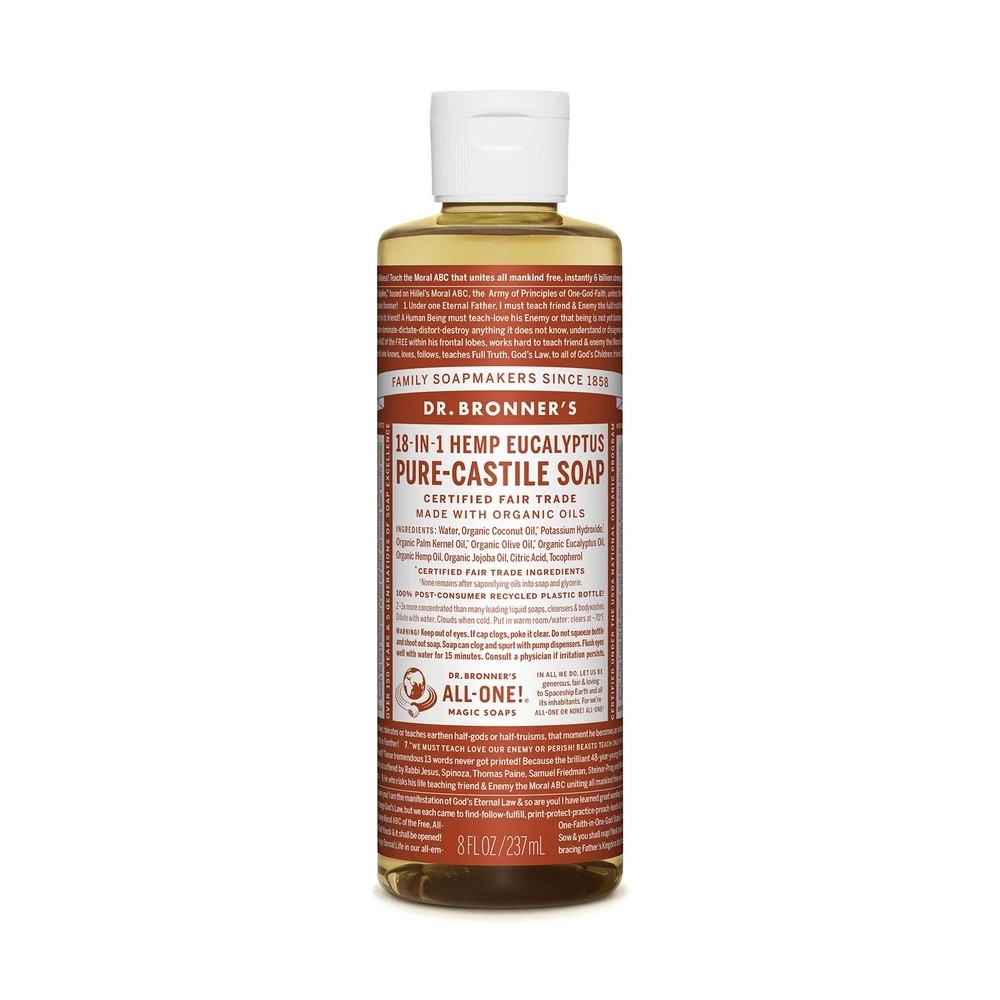 Dr Bronner's 18-in-1 Hemp Pure Castile Soap - 237ml Eucalyptus