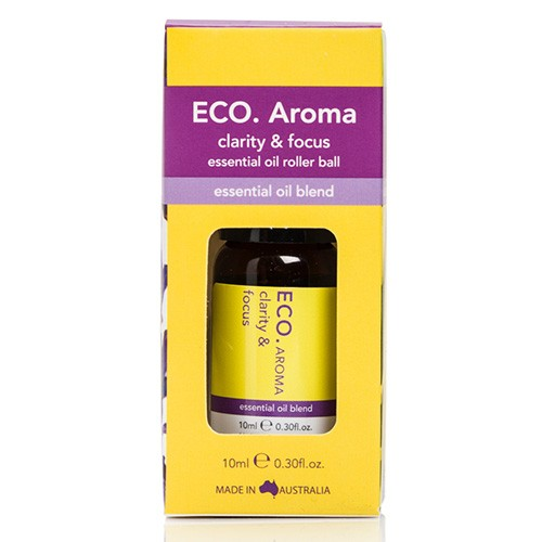 Eco Aroma Clarity & Focus Essential Oil Blend - 10ml Rollerball