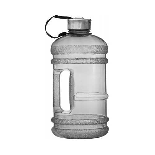 Enviro Products BPA Free Plastic Drink Bottle with Stainless Steel Cap - 2.2 litres - Black