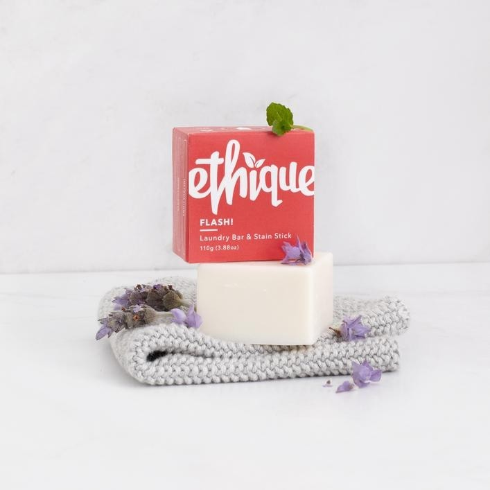 Ethique Solid Laundry Bar & Stain Remover 100g - Flash