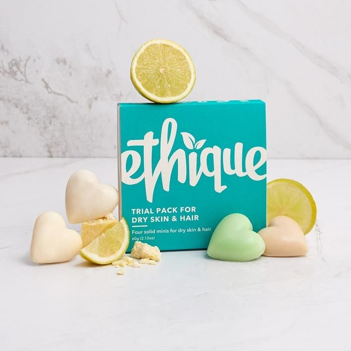 Ethique Trial Pack for Dry Skin & Hair 60g - 4x Solid Minis