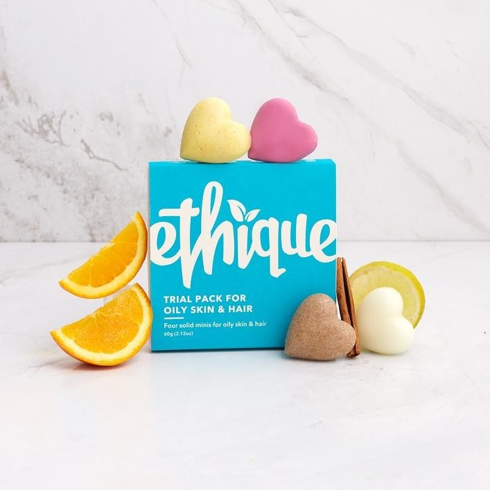 Ethique Trial Pack for Oily Skin & Hair 60g - 4x Solid Minis