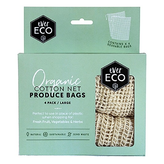 Ever Eco Cotton Net Produce Bags 4 Pack
