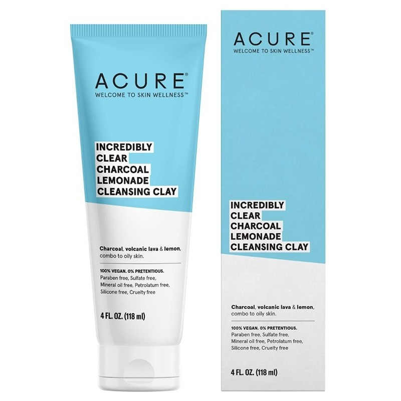 Acure Incredibly Clear Cleansing Clay - 118ml