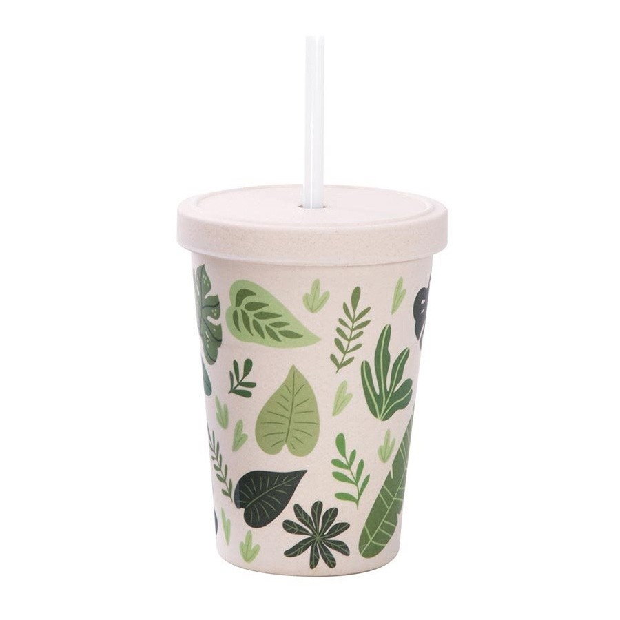 IS Gift eCup Bamboo Smoothie Cup - 500ml Falling Leaves