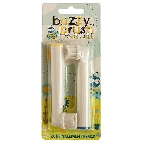 Jack n Jill Buzzy Brush Replacement Heads 2 Pack