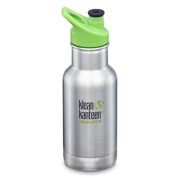 Klean Kanteen Classic Insulated Kids Water Bottle 355ml / 12oz - Brushed Stainless