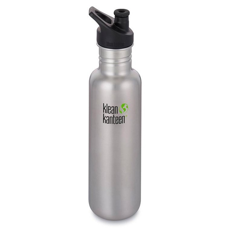 Klean Kanteen Classic Stainless Steel Water Bottle - 800ml / 27oz Stainless