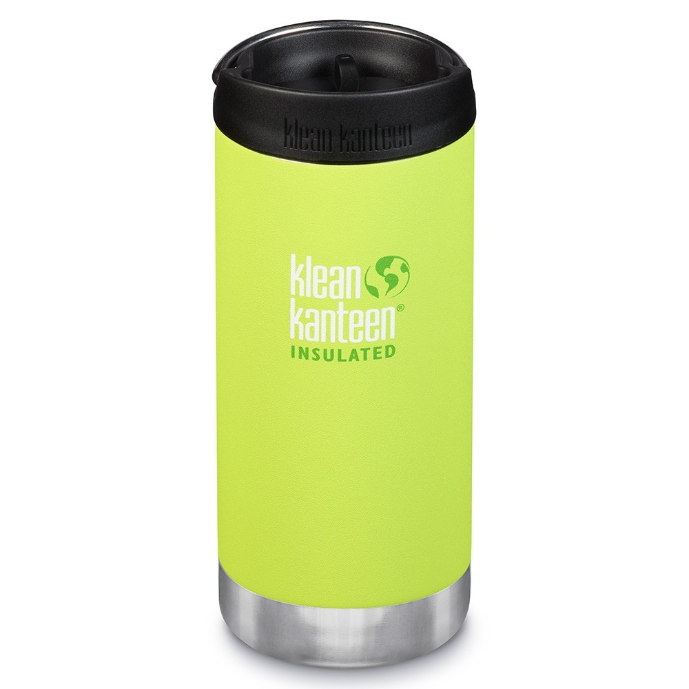 Klean Kanteen TKWide Insulated Bottle with Cafe Cap - 12oz Juicy Pear