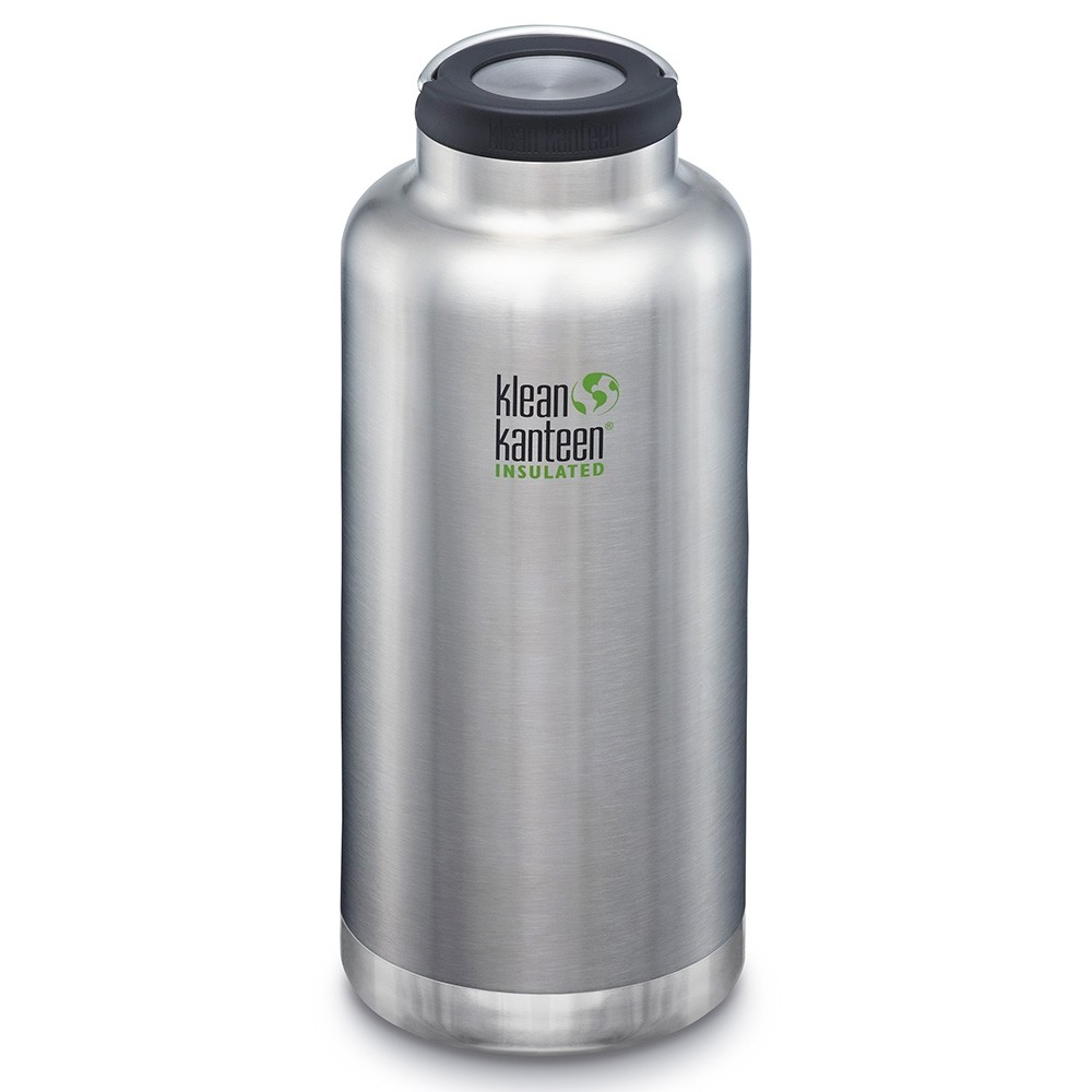 Klean Kanteen TKWide Insulated Bottle with Loop Cap - 64oz Brushed Stainless