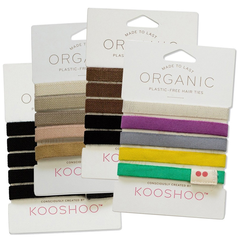 Kooshoo Organic Hair Ties 5 Pack - various colour combos