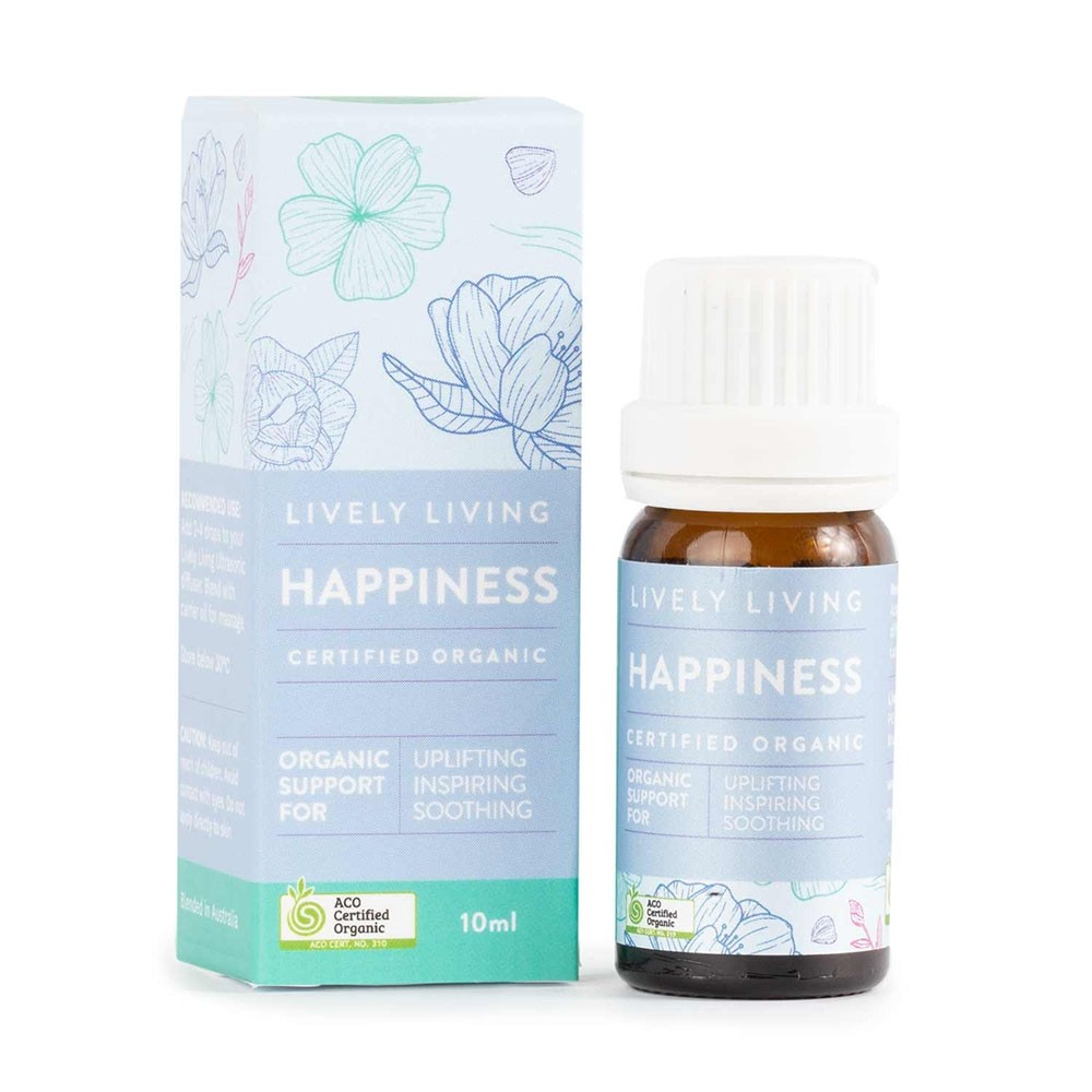 Lively Living Organic Essential Oil Blend - Happiness 10ml