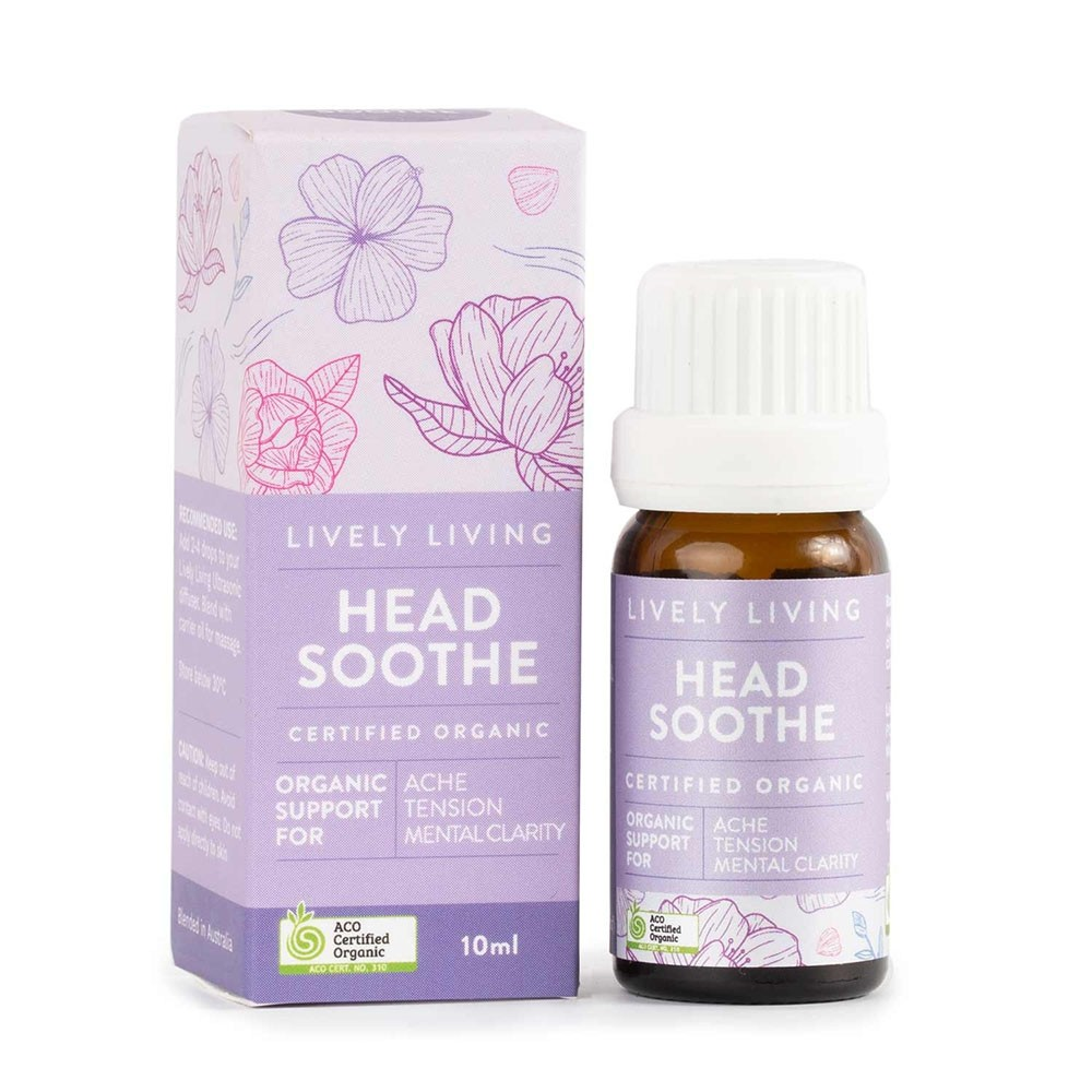 Lively Living Organic Essential Oil Blend - Head Soothe 10ml