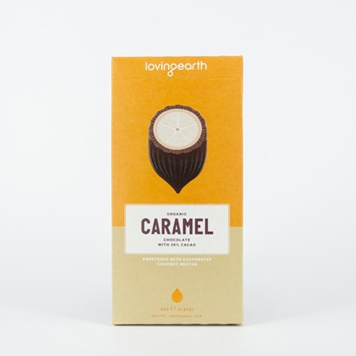 Loving Earth Raw Organic Chocolate - Caramel 80g