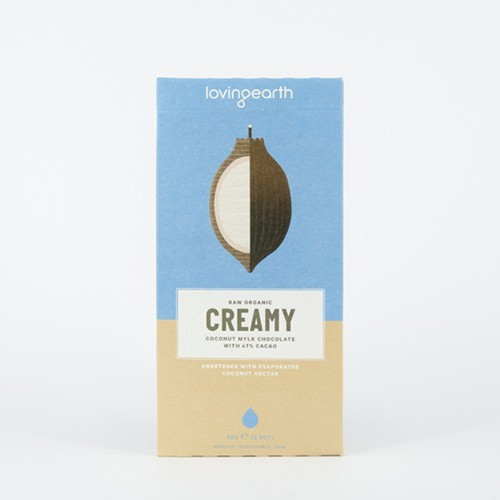 Loving Earth Raw Organic Chocolate - Creamy Coconut Mylk 80g