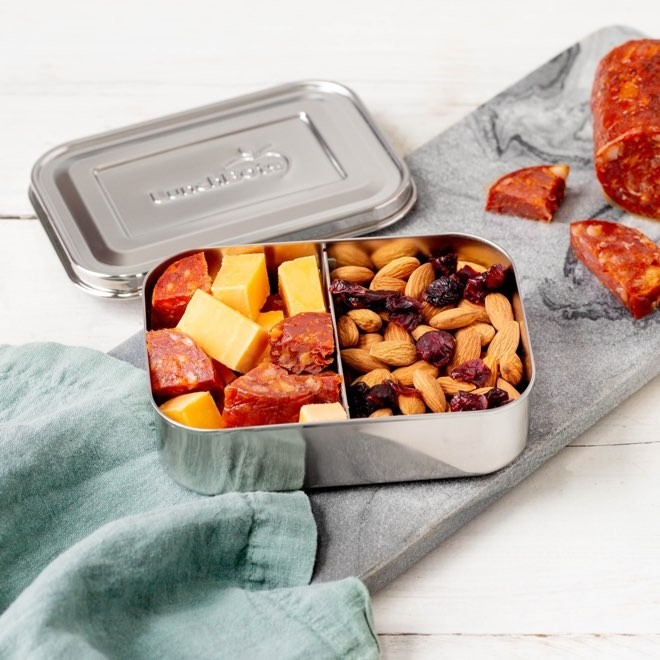Lunchbots Small Snack Packer Stainless Steel Bento Box - Silver