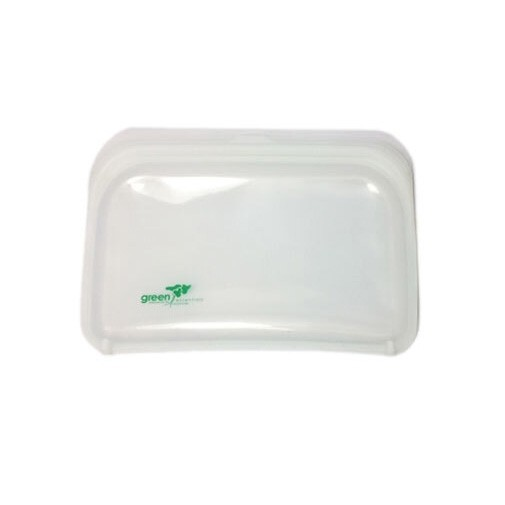 Green Essentials Reusable Silicone Food Pouch - Medium Clear