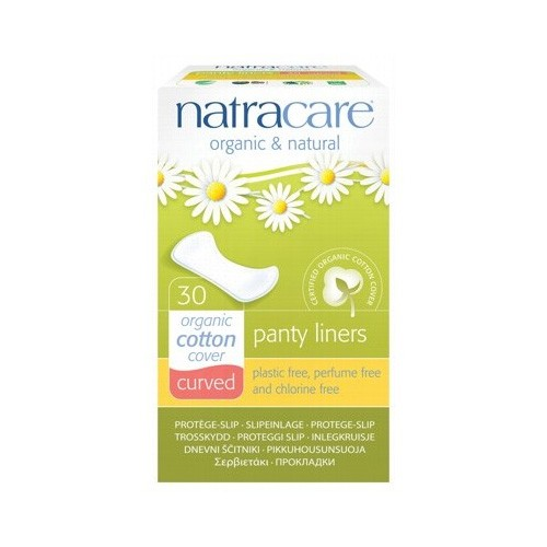 Natracare Certified Organic Cotton Panty Liners - Curved (30)