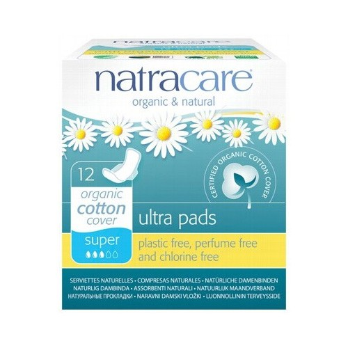Natracare Certified Organic Cotton Ultra Pads with wings - super (12)