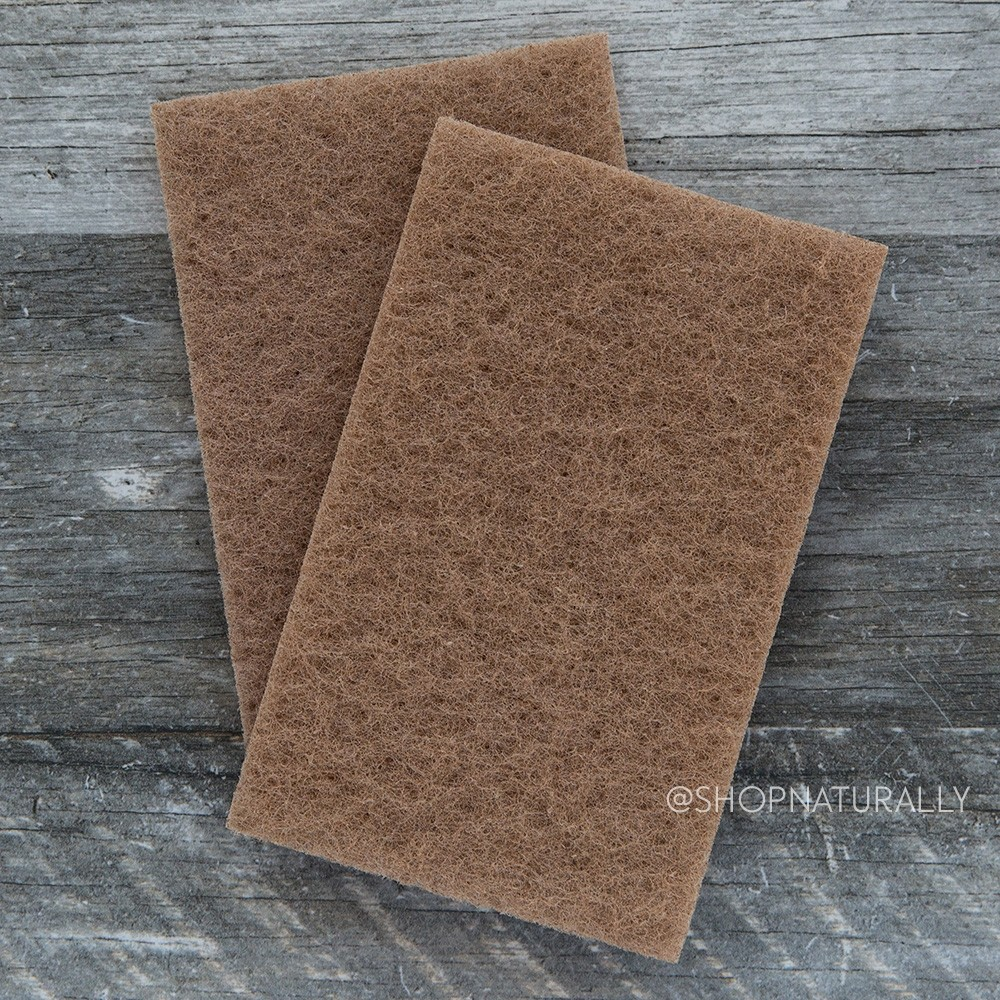 Natural Value Walnut Scouring Pads 2 Pack