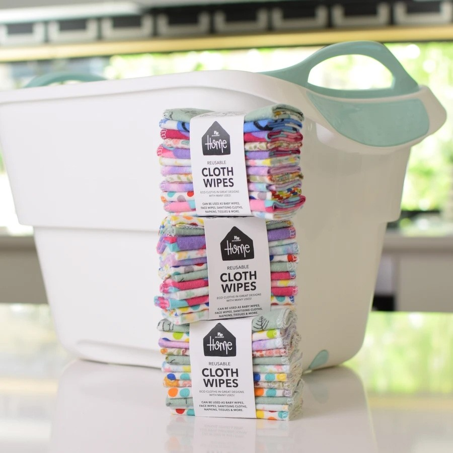No Nasties Home Reusable Cloth Wipes 12 pack