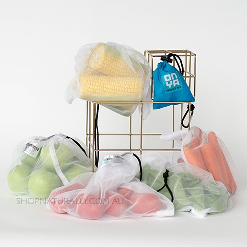 Onya Reusable Produce bags - 5 Pack Turquoise